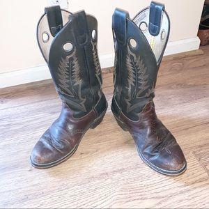 Men's Durango Leather Cowboy Boots SW6405 SZ 9.5